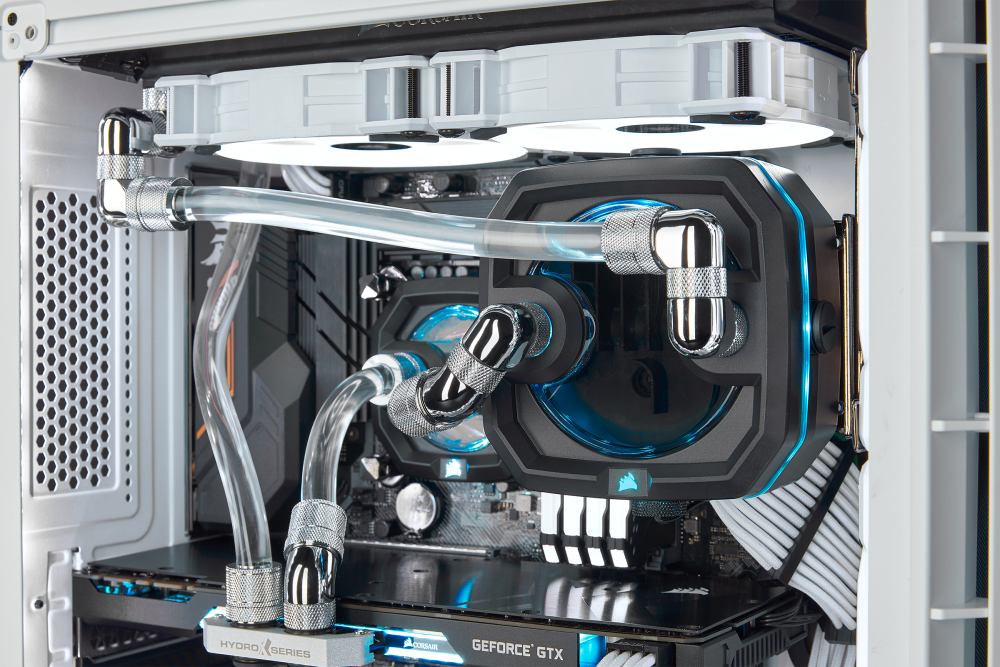 (pr) a new look for your next build – corsair offers additional cooling components now in white