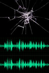 breaking glass audio event